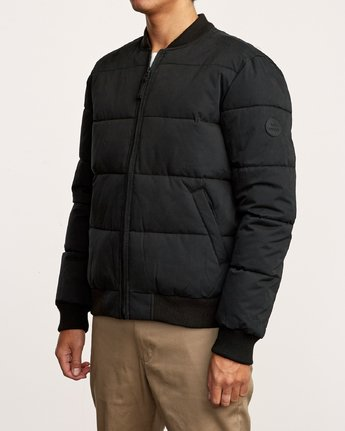 3 Superior Quilted Bomber Jacket Black M703VRSB RVCA