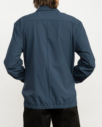 3 Stretch Me Straight Coaches Jacket Blue M704QRST RVCA