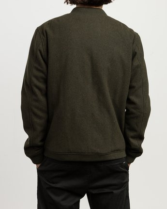 5 Collective Wool Bomber Jacket  M704SRVO RVCA