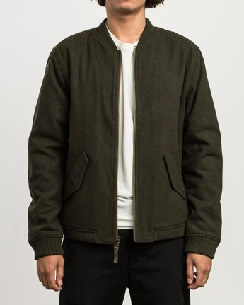 1 Collective Wool Bomber Jacket  M704SRVO RVCA