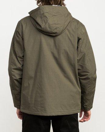 4 Puffer Parka Jacket Green M705QRPU RVCA
