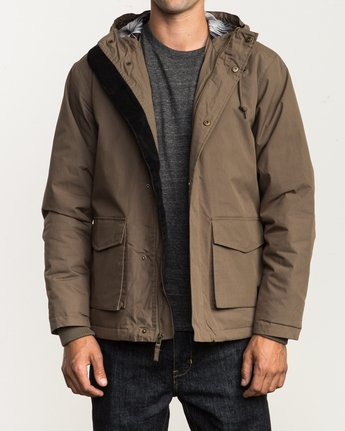 1 Puffer Parka Jacket Beige M705QRPU RVCA
