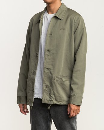 4 Alex Matus Button-Up Jacket Green M705SRMA RVCA
