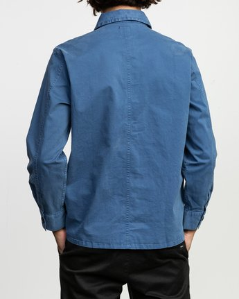 3 Couleur Chore Coat Shirt Blue M705TRCC RVCA