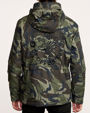 4 Field Canvas Coat Camo M705VRFC RVCA