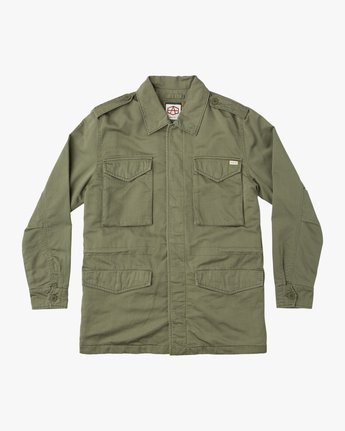 0 Andrew Reynolds M65 Canvas Jacket Green M706QRAR RVCA