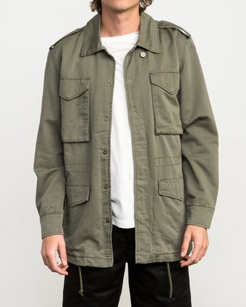 1 Andrew Reynolds M65 Canvas Jacket Green M706QRAR RVCA