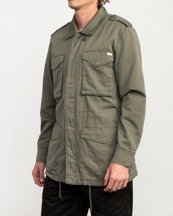 3 Andrew Reynolds M65 Canvas Jacket Green M706QRAR RVCA