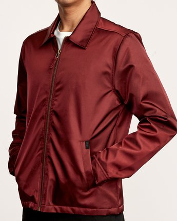 5 Supply Zip-Up Jacket Red M707VRSU RVCA