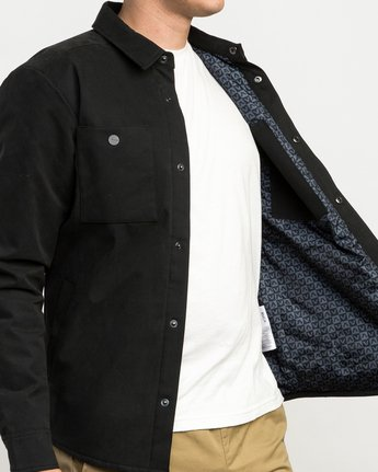 5 Utility Shirt Jacket Black M708QRUS RVCA