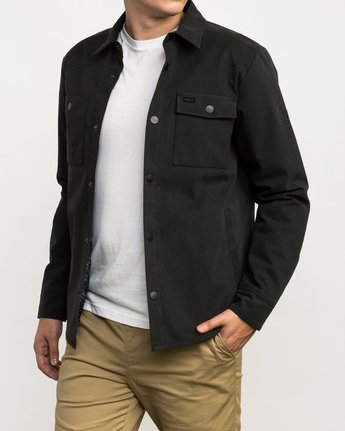 3 Utility Shirt Jacket Black M708QRUS RVCA