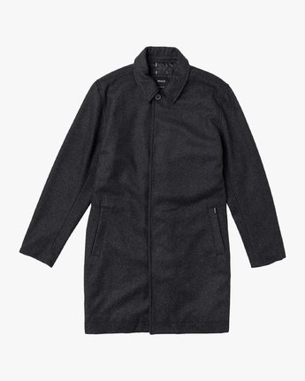 0 Mac Wool Coat Black M709VRMA RVCA