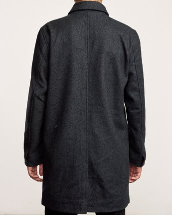 5 Mac Wool Coat Black M709VRMA RVCA