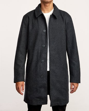 2 Mac Wool Coat Black M709VRMA RVCA
