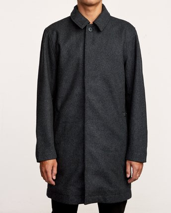 3 Mac Wool Coat Black M709VRMA RVCA