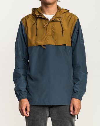 2 Packaway Anorak II Jacket Brown M710QRPA RVCA