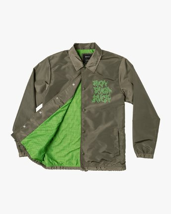 1 Berni Coaches Jacket Green M721VRBE RVCA