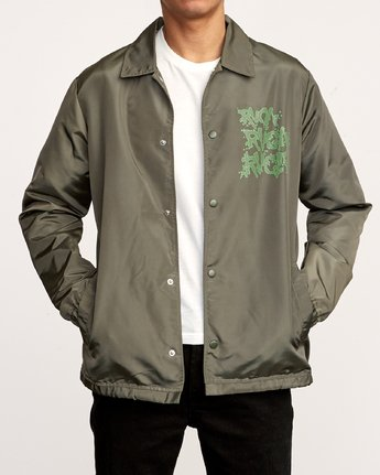 2 Berni Coaches Jacket Green M721VRBE RVCA