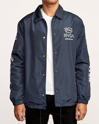 2 Berni Coaches Jacket Blue M721VRBE RVCA