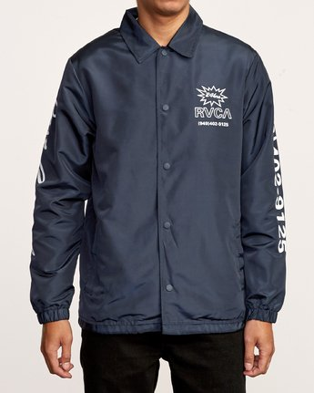 3 Berni Coaches Jacket Blue M721VRBE RVCA