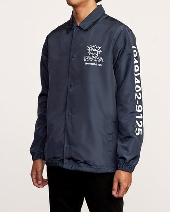 4 Berni Coaches Jacket Blue M721VRBE RVCA