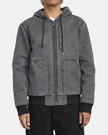 HOODED CANVAS BOMBER  M7253RER