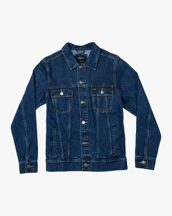0 Daggers Denim Jacket Blue M725VRDA RVCA