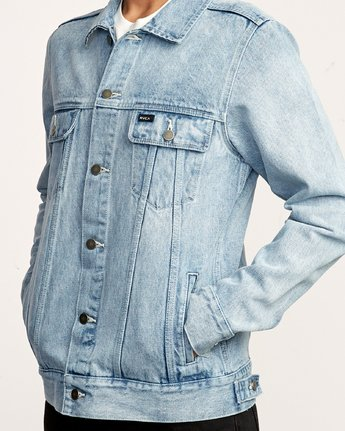 6 Daggers Denim Jacket White M725VRDA RVCA