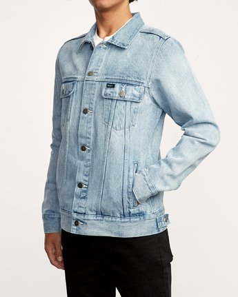 4 Daggers Denim Jacket White M725VRDA RVCA