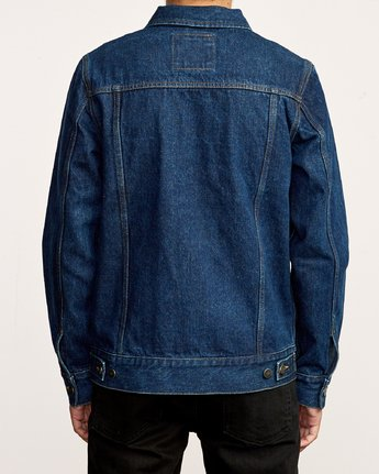 4 Daggers Denim Jacket Blue M725VRDA RVCA