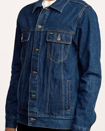 5 Daggers Denim Jacket Blue M725VRDA RVCA