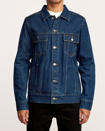 2 Daggers Denim Jacket Blue M725VRDA RVCA