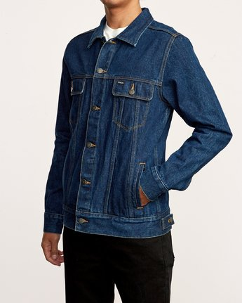 3 Daggers Denim Jacket Blue M725VRDA RVCA