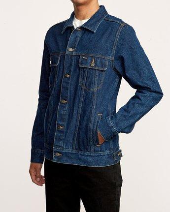 4 Daggers Denim Jacket Blue M725VRDA RVCA