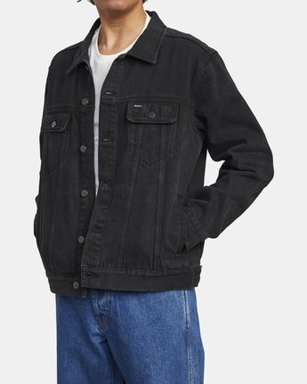 4 AMERICANA DENIM JACKET Black M7303RDJ RVCA