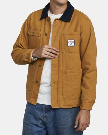 4 MATTY'S JACKET Brown M732WRMJ RVCA