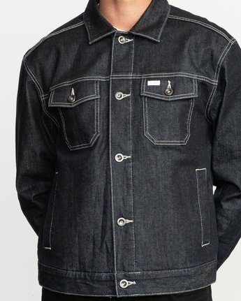 4 Chipper Neutral Denim Jacket Blue M750QRCJ RVCA