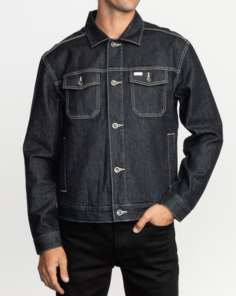 1 Chipper Neutral Denim Jacket Blue M750QRCJ RVCA