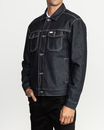 2 Chipper Neutral Denim Jacket Blue M750QRCJ RVCA
