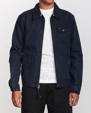 1 Hi-Grade Denim Jacket Blue M750VRHG RVCA