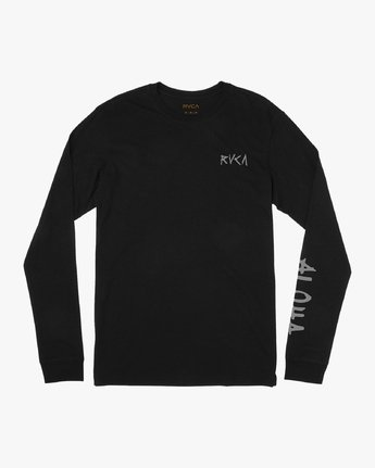 1 Hula Bones Long Sleeve T-Shirt Black M805HHBH RVCA