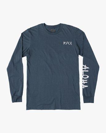 1 Hula Bones Long Sleeve T-Shirt Brown M805HHBH RVCA