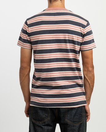 4 Lucas Striped Knit T-Shirt  M901TRLS RVCA