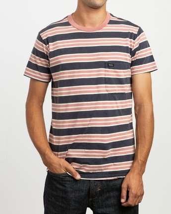2 Lucas Striped Knit T-Shirt  M901TRLS RVCA