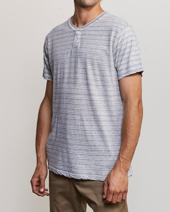 2 Exhauster Henley Knit Shirt White M901UREX RVCA