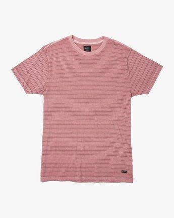 0 Saturation Stripe Knit T-Shirt Pink M901VRSS RVCA