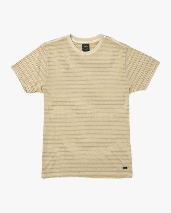 0 Saturation Stripe Knit T-Shirt Yellow M901VRSS RVCA