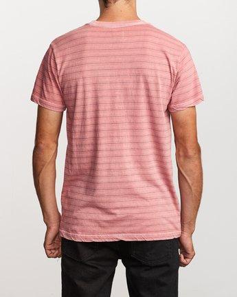 3 Saturation Stripe Knit T-Shirt Pink M901VRSS RVCA