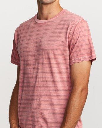 4 Saturation Stripe Knit T-Shirt Pink M901VRSS RVCA