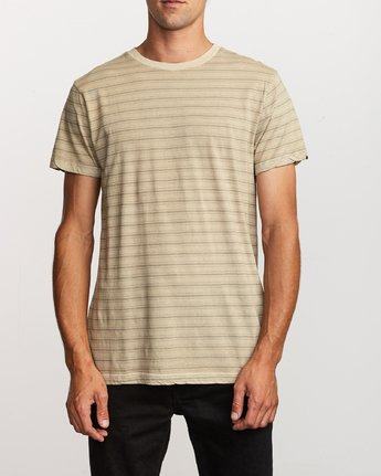 1 Saturation Stripe Knit T-Shirt Yellow M901VRSS RVCA